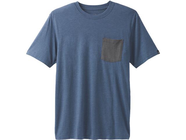 Prana Pocket T-shirt Homme, denim heather